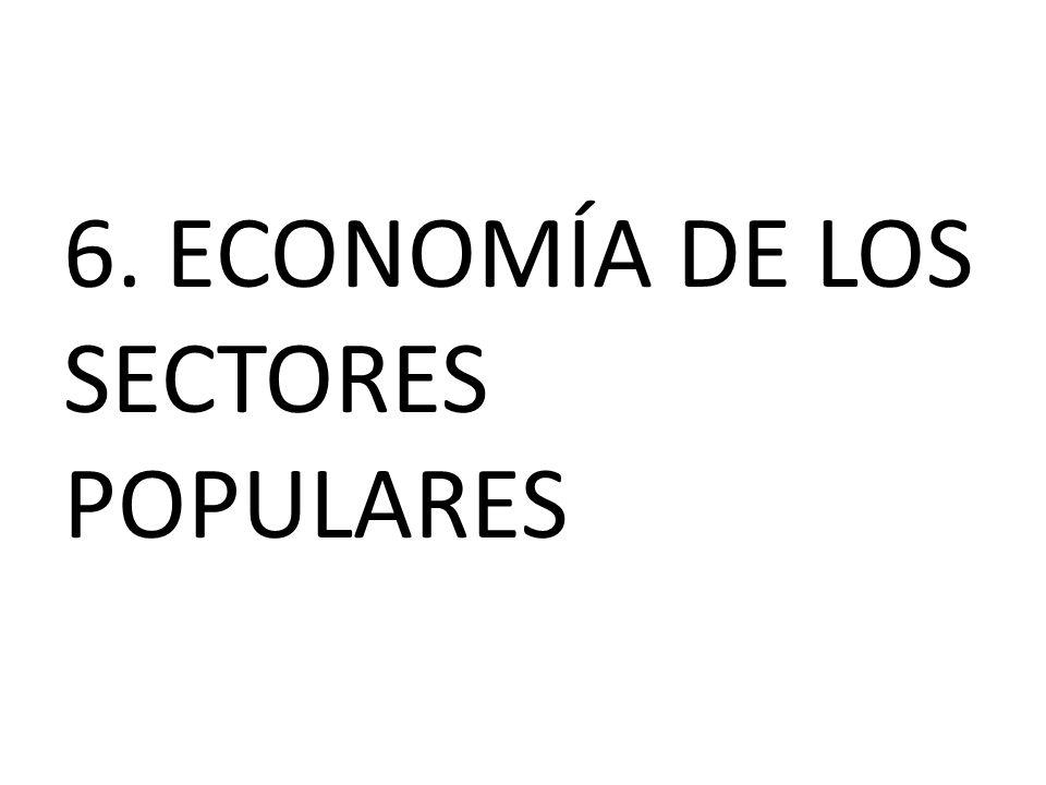 6. ECONOMÍA DE LOS SECTORES POPULARES