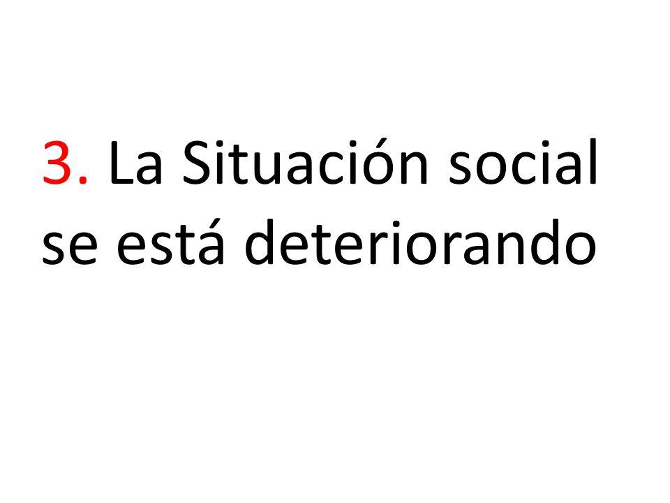3. La Situación social se está deteriorando