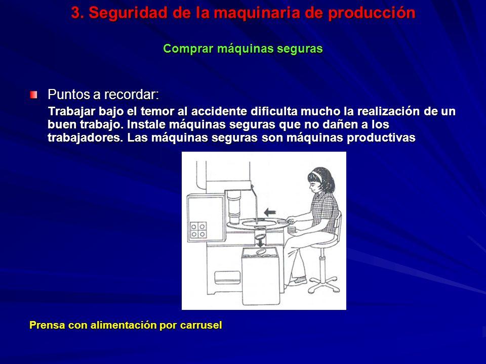 3. Seguridad de la maquinaria de producción Comprar máquinas seguras 3. Seguridad de la maquinaria de producción Comprar máquinas seguras Puntos a rec