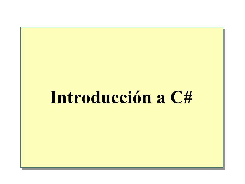 Comentarios a aplicaciones Los comentarios son importantes Una aplicación con los comentarios adecuados permite a un desarrollador comprender perfectamente la estructura de la aplicación Comentarios de una sola línea Comentarios de varias líneas /* Encontrar la mayor raíz de la ecuación cuadrática */ x = (…); /* Encontrar la mayor raíz de la ecuación cuadrática */ x = (…); // Obtener el nombre del usuario Console.WriteLine(¿Cómo se llama.