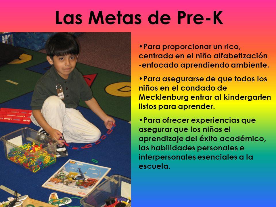 Las Metas de Pre-K Para proporcionar un rico, centrada en el niño alfabetización -enfocado aprendiendo ambiente. Para asegurarse de que todos los niño
