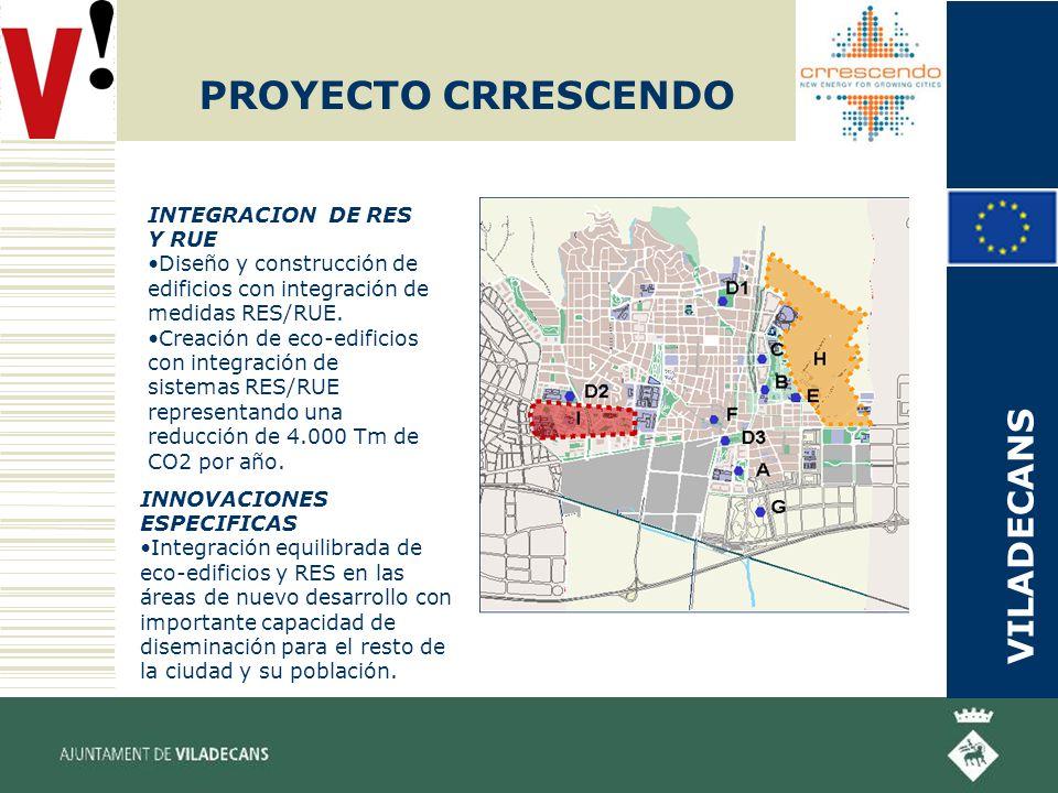 PROYECTO CRRESCENDO INTEGRACION DE RES Y RUE Diseño y construcción de edificios con integración de medidas RES/RUE.