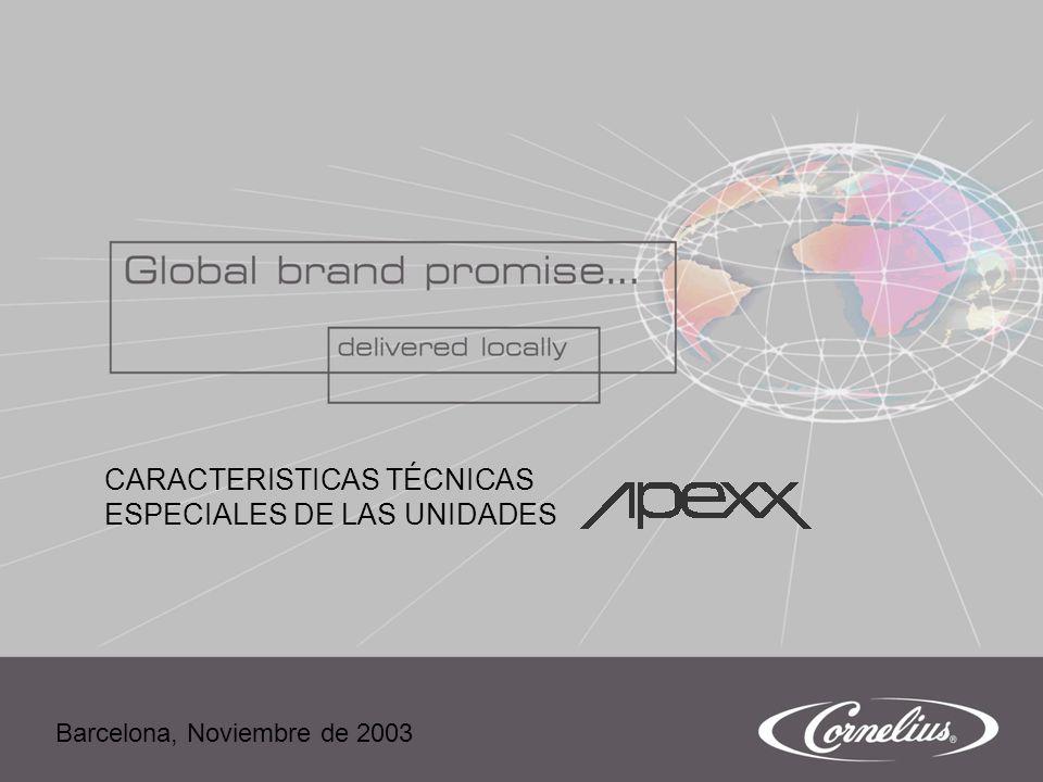 Nov.2003Pág. 1 CARACTERISTICAS TÉCNICAS ESPECIALES DE LAS UNIDADES Barcelona, Noviembre de 2003
