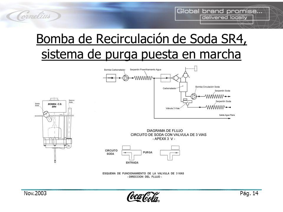 Nov.2003Pág. 14 Bomba de Recirculación de Soda SR4, sistema de purga puesta en marcha