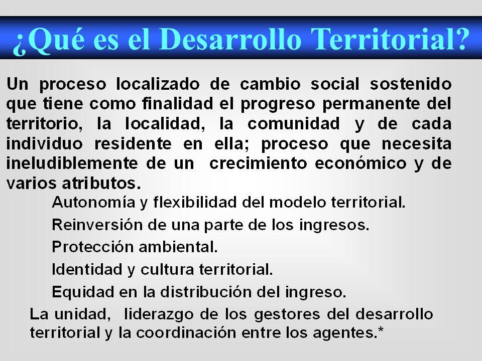 Investigaciones sobre el Desarrollo Humano a nivel territorial.