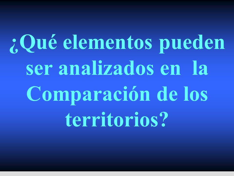 ¿Qué elementos pueden ser analizados en la Comparación de los territorios?