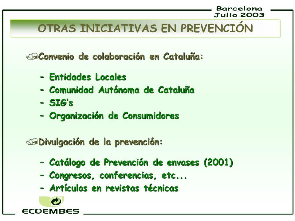 /Convenio de colaboración en Cataluña: –Entidades Locales –Comunidad Autónoma de Cataluña –SIGs –Organización de Consumidores /Divulgación de la preve