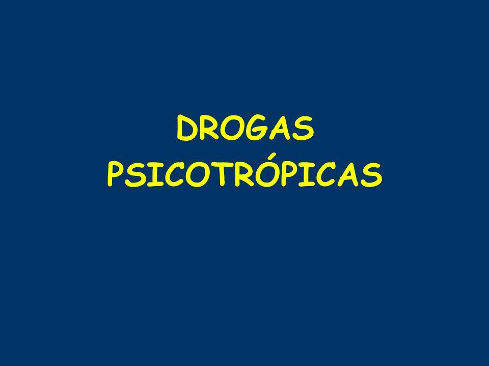 DROGAS PSICOTRÓPICAS
