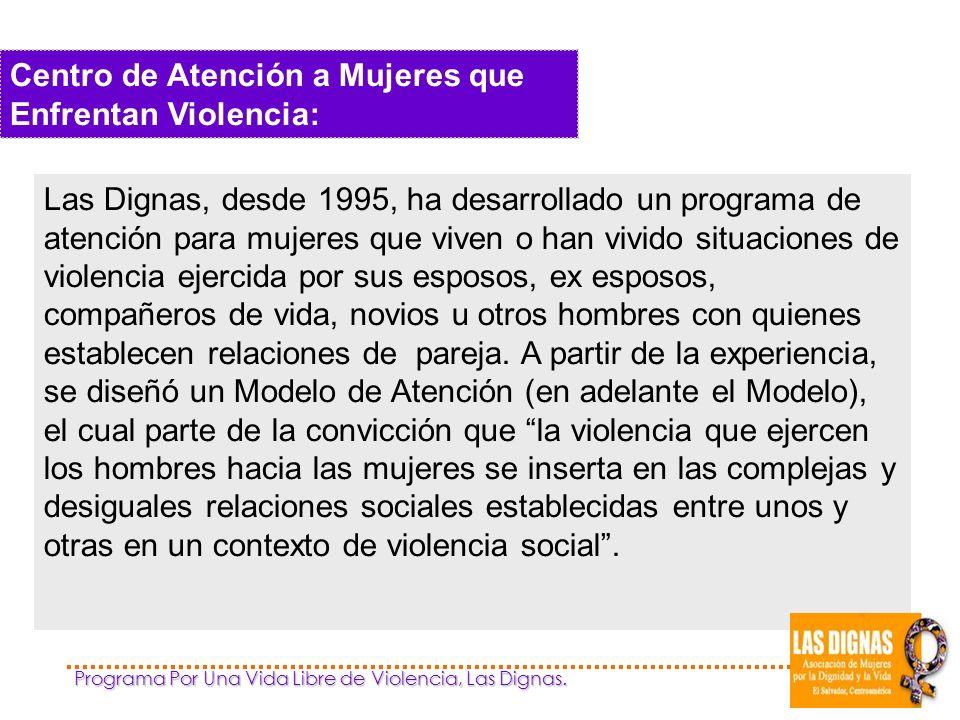 Programa Por Una Vida Libre de Violencia, Las Dignas.