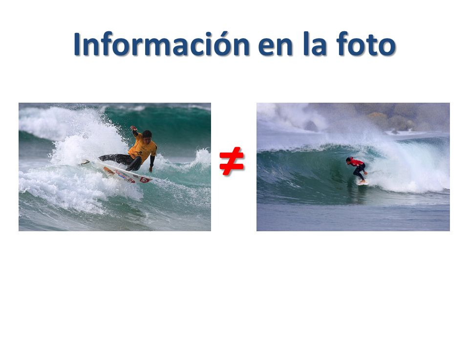 Información en la foto