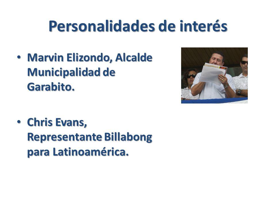 Personalidades de interés Marvin Elizondo, Alcalde Municipalidad de Garabito.