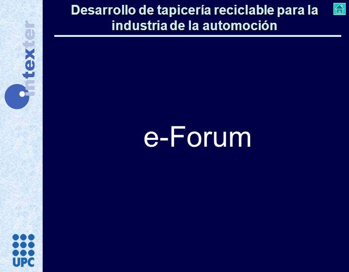 Desarrollo de tapicería reciclable para la industria de la automoción e-Forum
