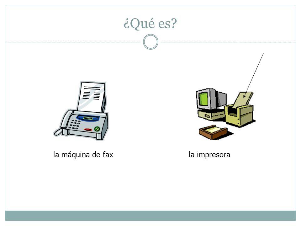 ¿Qué es? la máquina de faxla impresora