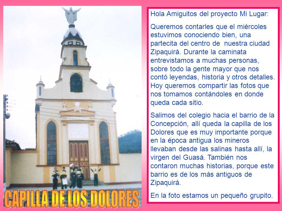 En esta foto está la Virgen de la Concepción que se encuentra al frente de la Iglesia de los Dolores que vimos en la foto anterior.