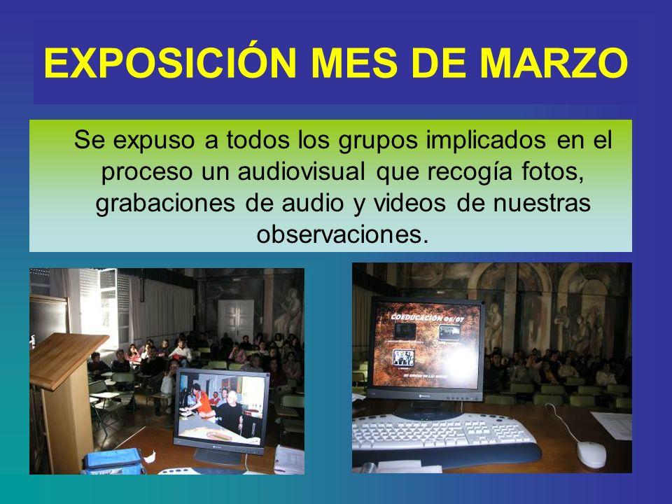 Hemos realizado grupos de discusión y observaciones RECREO GRUPO DISCUSIÓN E.I. GRUPO DE DISCUSIÓN DE BACHILLERATO