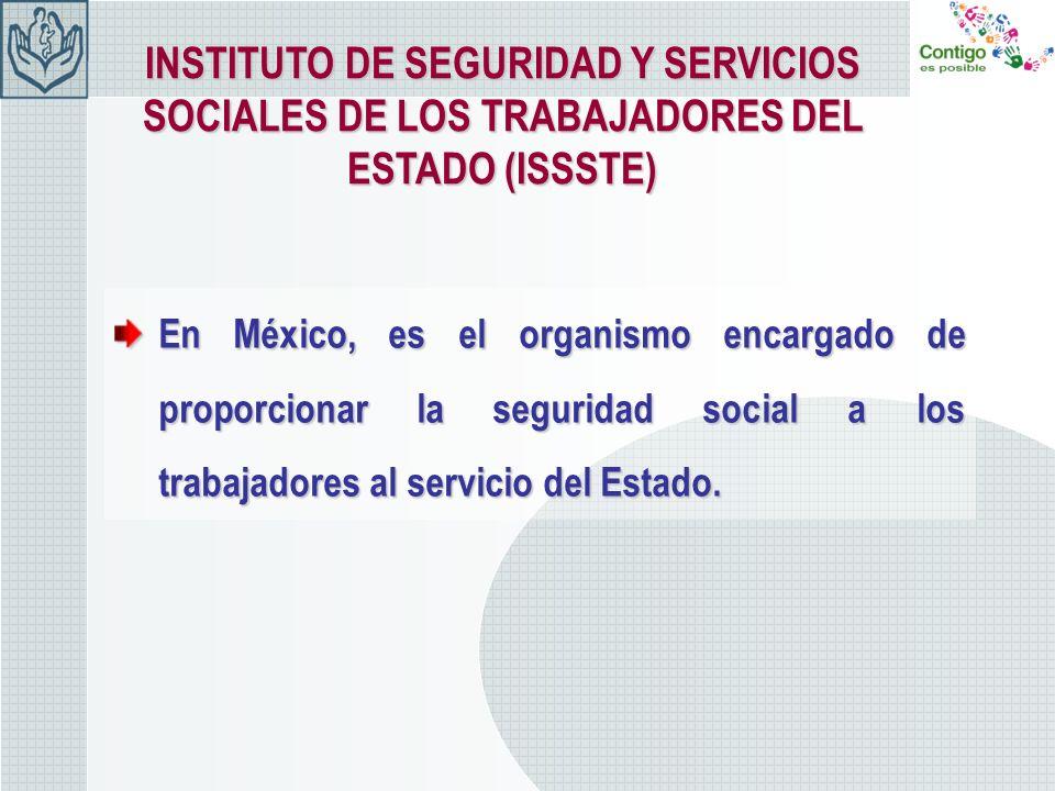 En México, es el organismo encargado de proporcionar la seguridad social a los trabajadores al servicio del Estado. INSTITUTO DE SEGURIDAD Y SERVICIOS