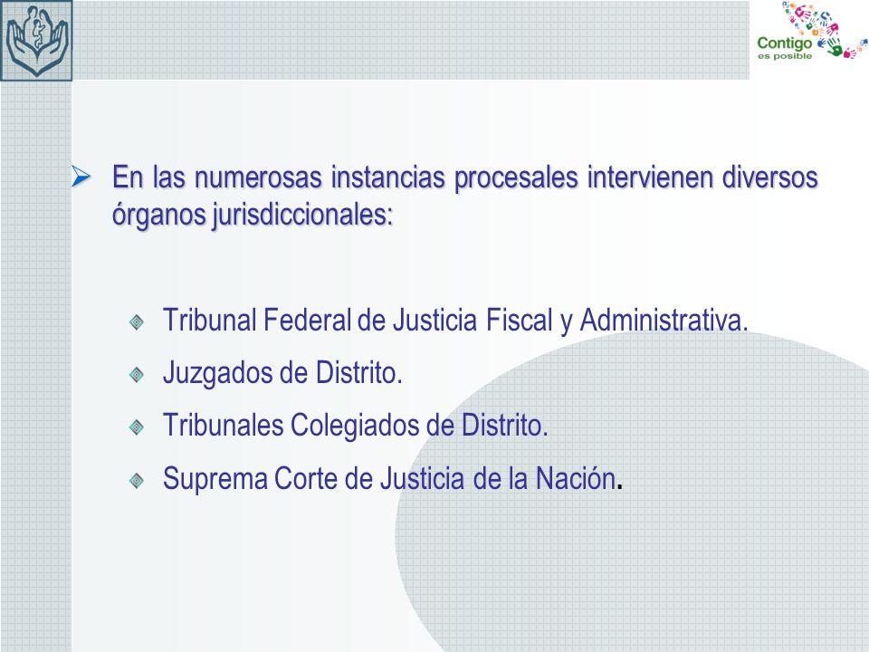 En las numerosas instancias procesales intervienen diversos órganos jurisdiccionales: En las numerosas instancias procesales intervienen diversos órga