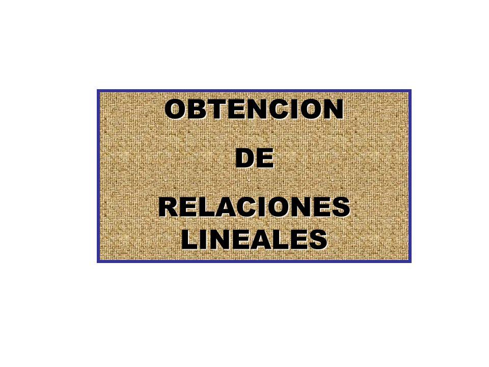 OBTENCIONDE RELACIONES LINEALES