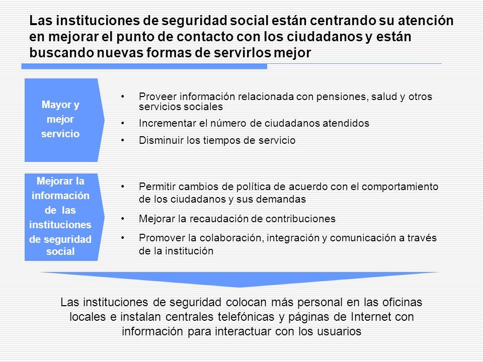 Las instituciones de seguridad social están centrando su atención en mejorar el punto de contacto con los ciudadanos y están buscando nuevas formas de