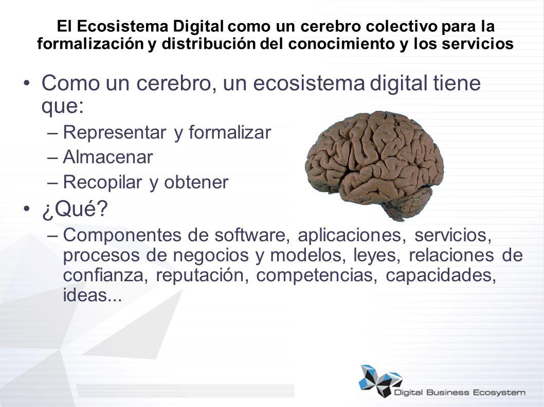 El Ecosistema Digital como un cerebro colectivo para la formalización y distribución del conocimiento y los servicios Como un cerebro, un ecosistema d