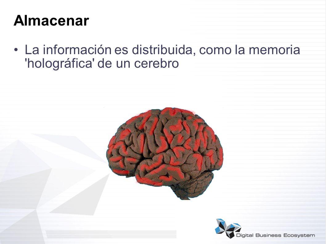 Almacenar La información es distribuida, como la memoria 'holográfica' de un cerebro