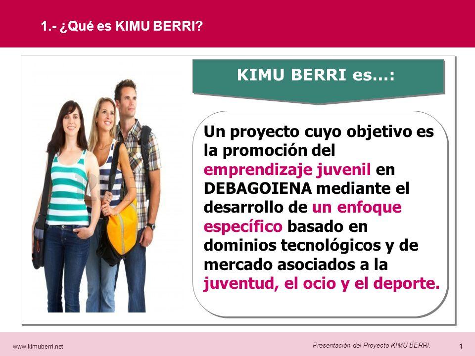 www.kimuberri.net 0 Presentación del Proyecto KIMU BERRI. Presentación del Proyecto KIMU BERRI