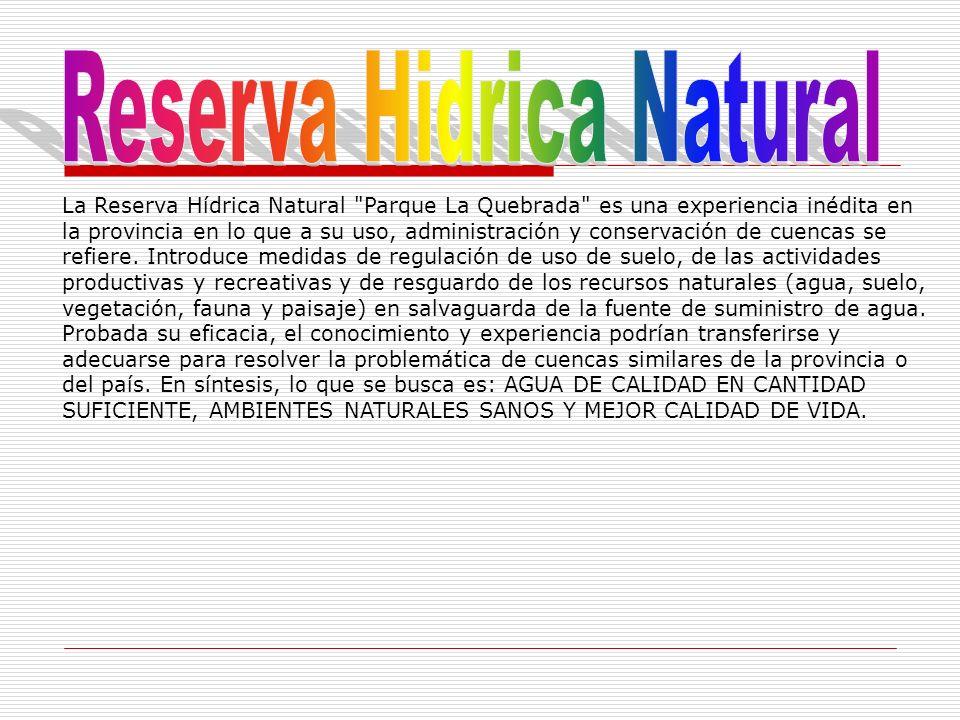 La Reserva Hídrica Natural