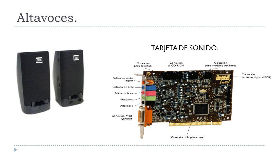 Altavoces. TARJETA DE SONIDO.