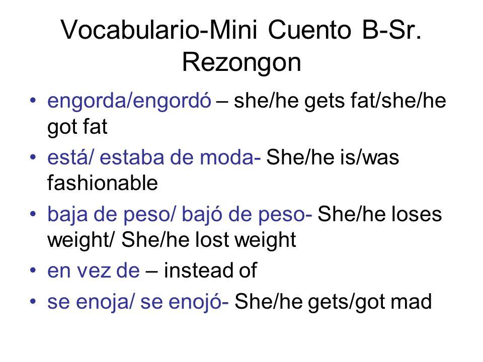 Vocabulario-Mini Cuento B-Sr.