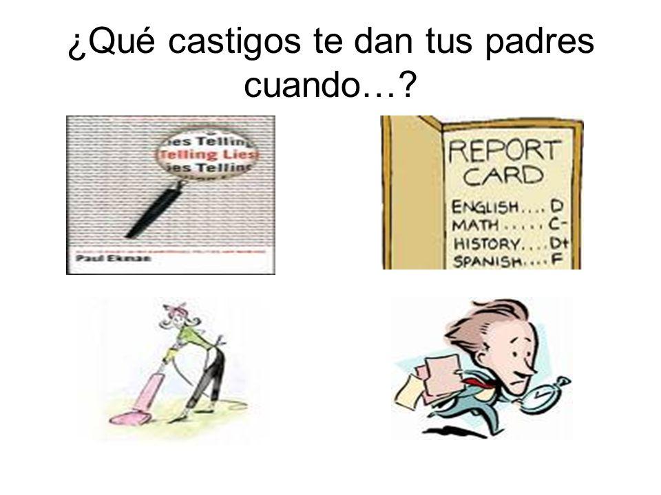 ¿Qué castigos te da tu profe de español cuando…?