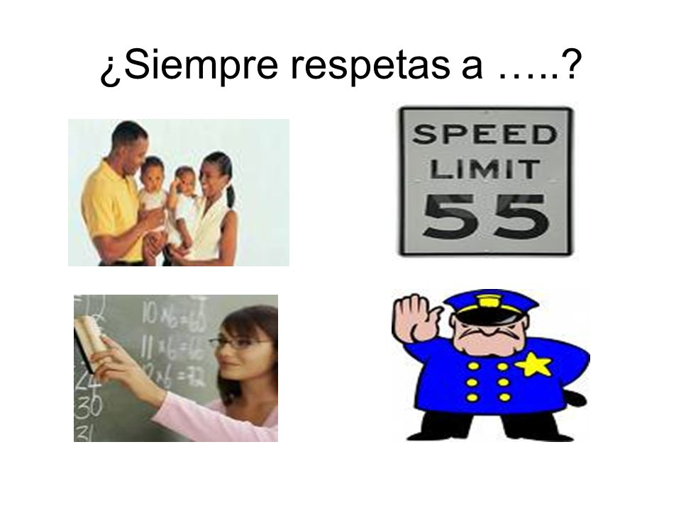 ¿Siempre respetas a …..?