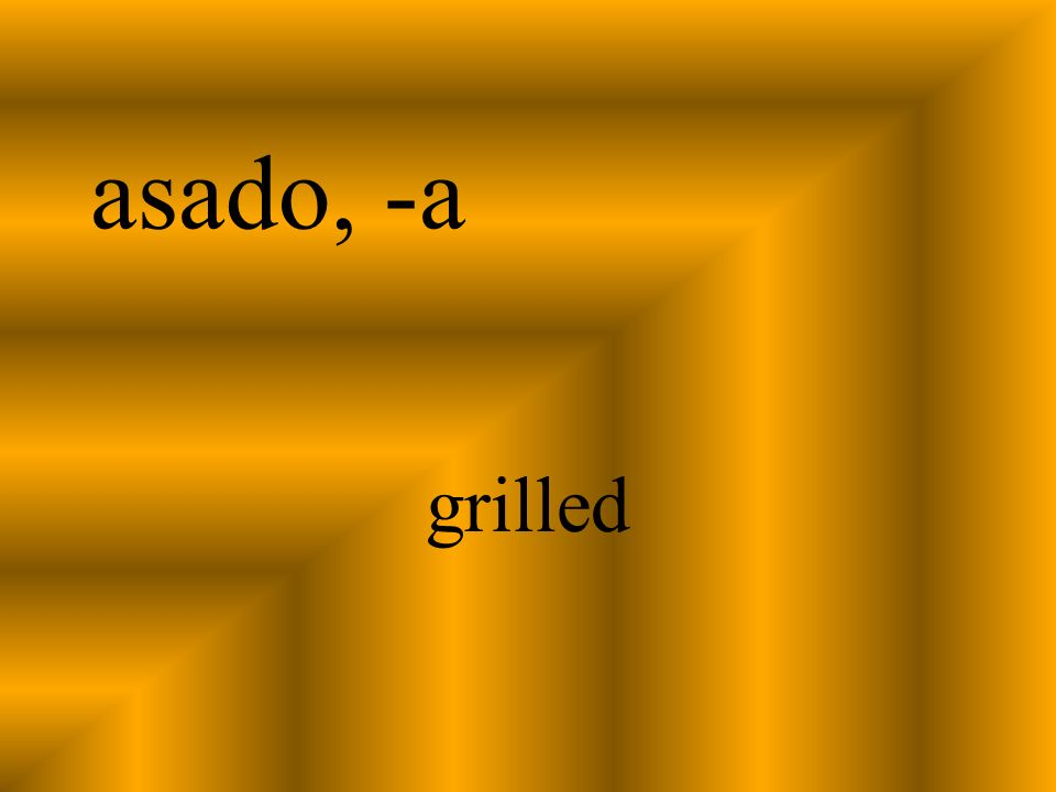 asado, -a grilled