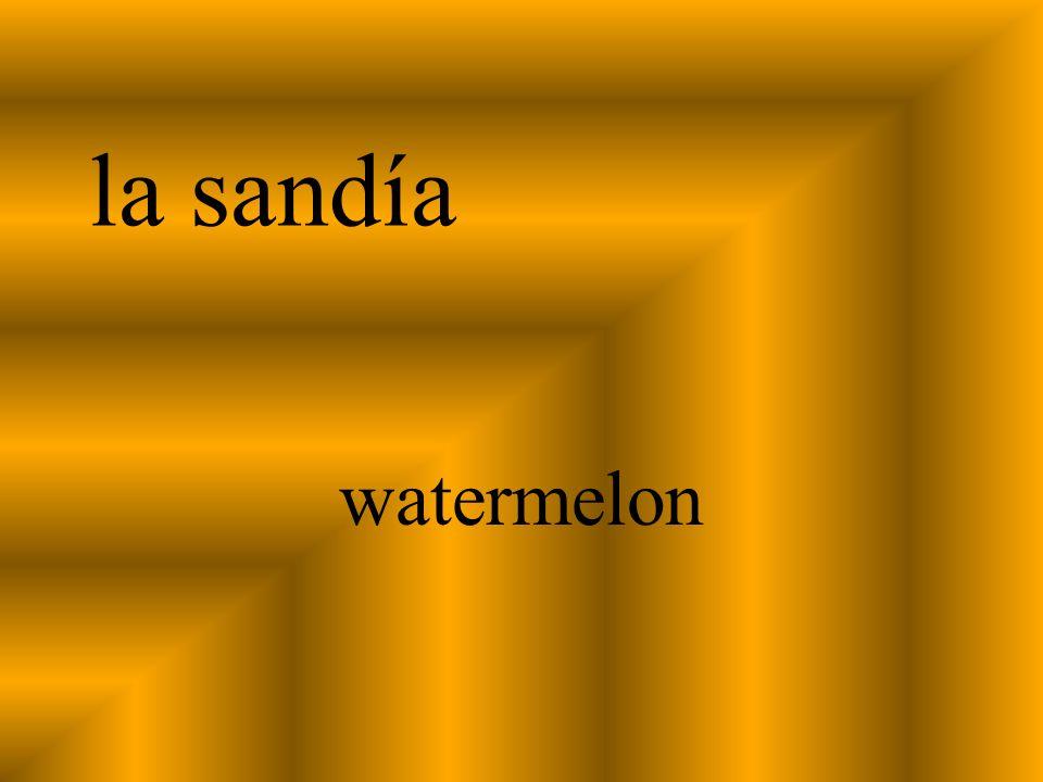 la sandía watermelon