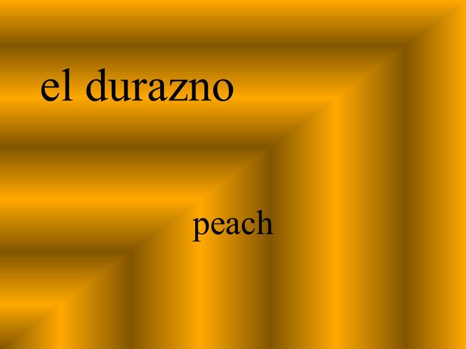 el durazno peach