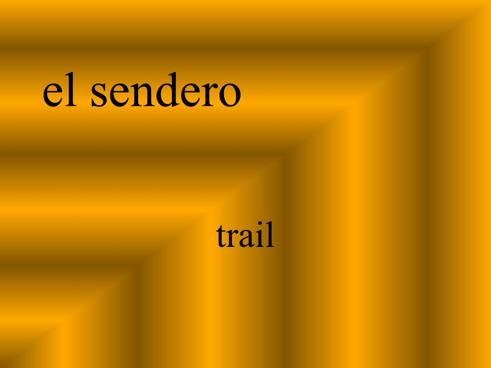 el sendero trail