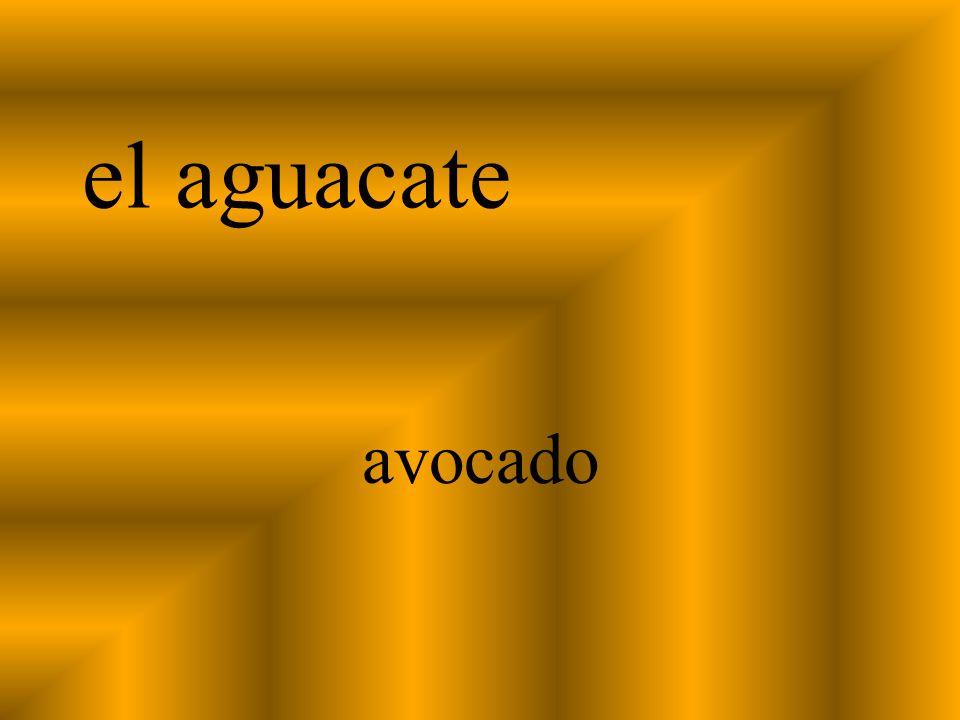 el aguacate avocado
