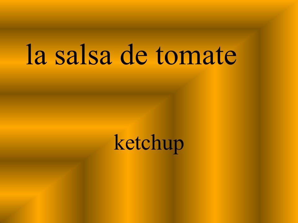 la salsa de tomate ketchup