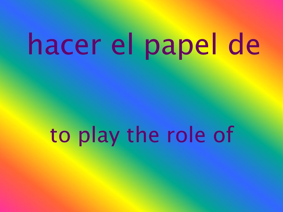 el papel role