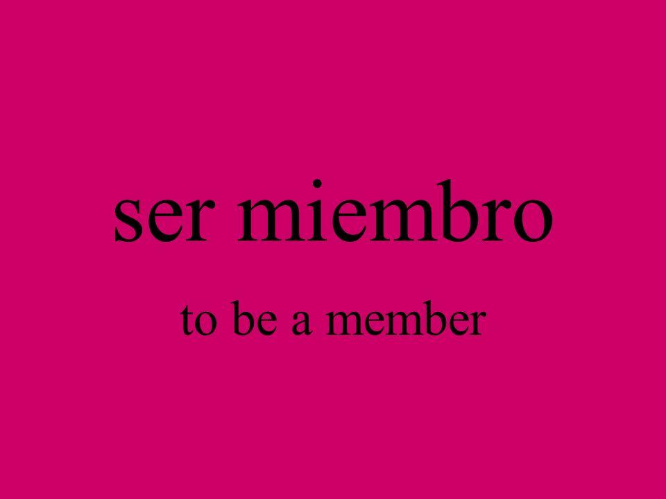 el miembro member