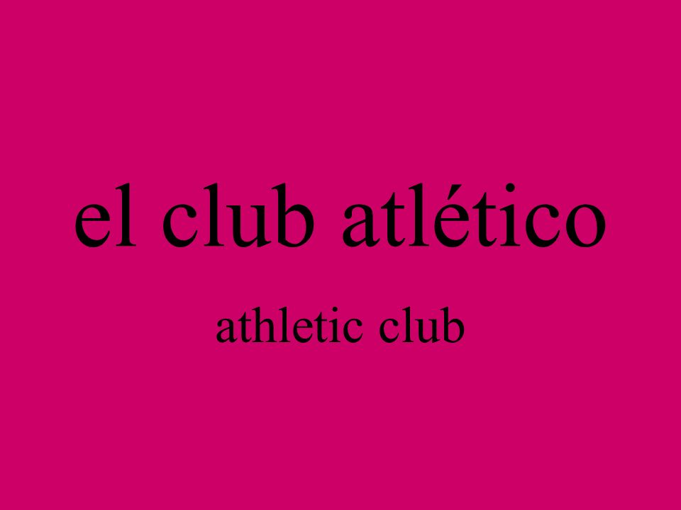 el club atlético athletic club