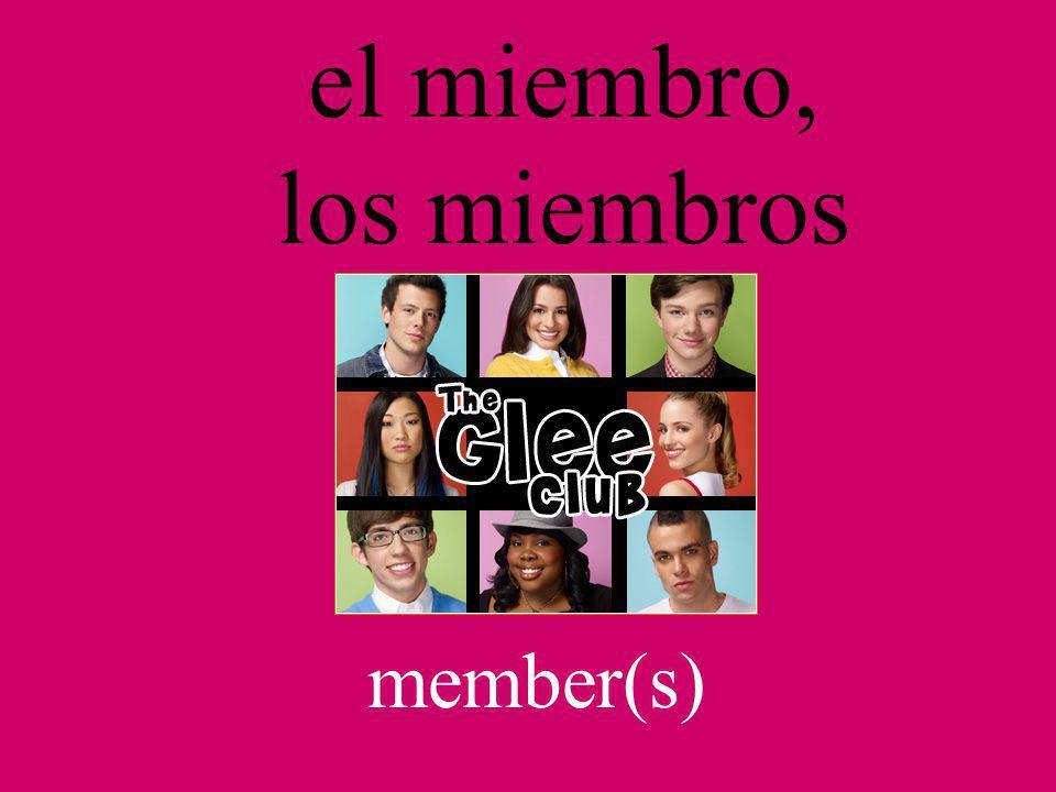 el miembro, los miembros member(s)