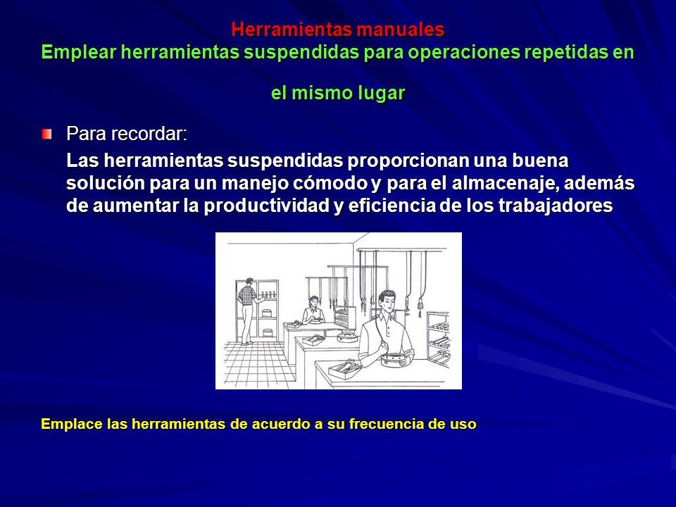Herramientas manuales Formar a los trabajadores antes de permitirles la utilización de herramientas mecánicas.