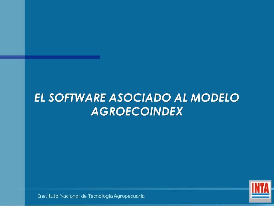 EL SOFTWARE ASOCIADO AL MODELO AGROECOINDEX EL SOFTWARE ASOCIADO AL MODELO AGROECOINDEX