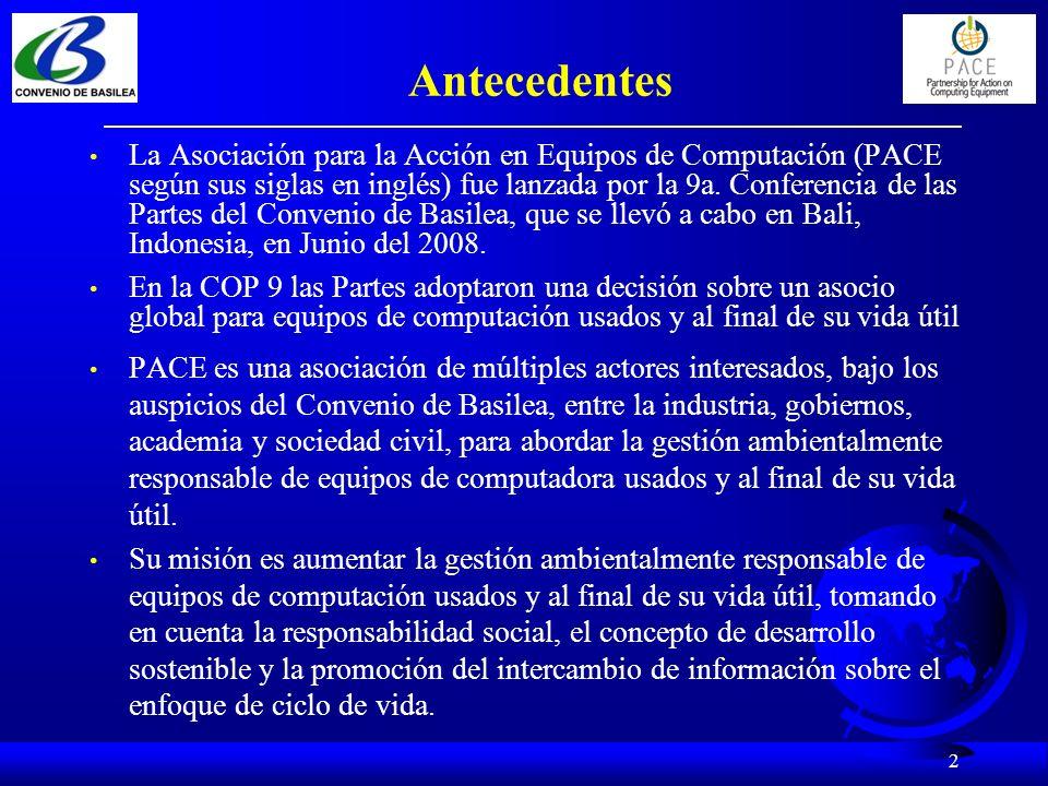 Estatus del Documento Guía El Documento Guía fue desarrollado y aprobado por el Grupo de Trabajo de PACE.