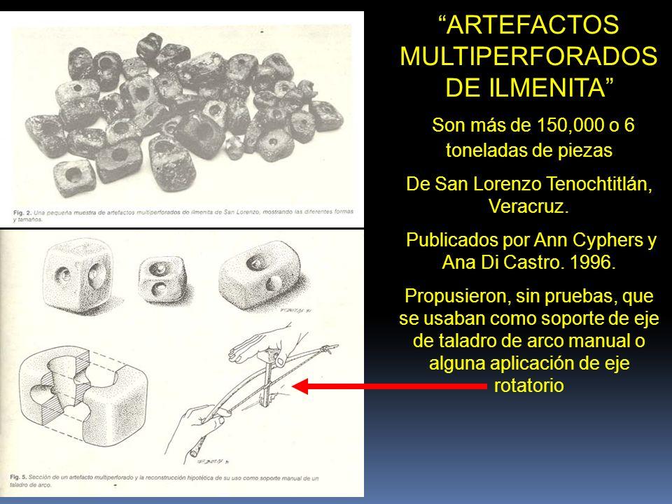 ILMENITA SONORA OLMECA Encontrada en la oficina de Francisco Beverido Pereau, Xalapa, Veracruz (1999) No. de Registro INAH P.F. 2040-2 (2009)