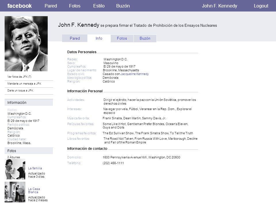 Información Personal facebook John F. Kennedy se prepara firmar el Tratado de Prohibición de los Ensayos Nucleares ParedFotosEstiloBuzónJohn F. Kenned