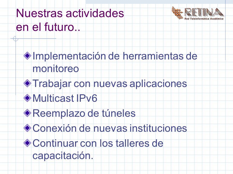 Nuestras actividades en el futuro..
