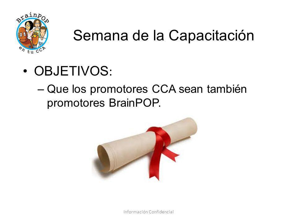 Tarea Información Confidencial Escoge 2 palabras que te definan como Promotor CCA.