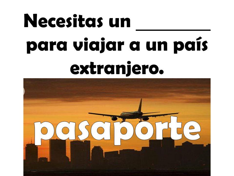 Necesitas un para viajar a un país extranjero.