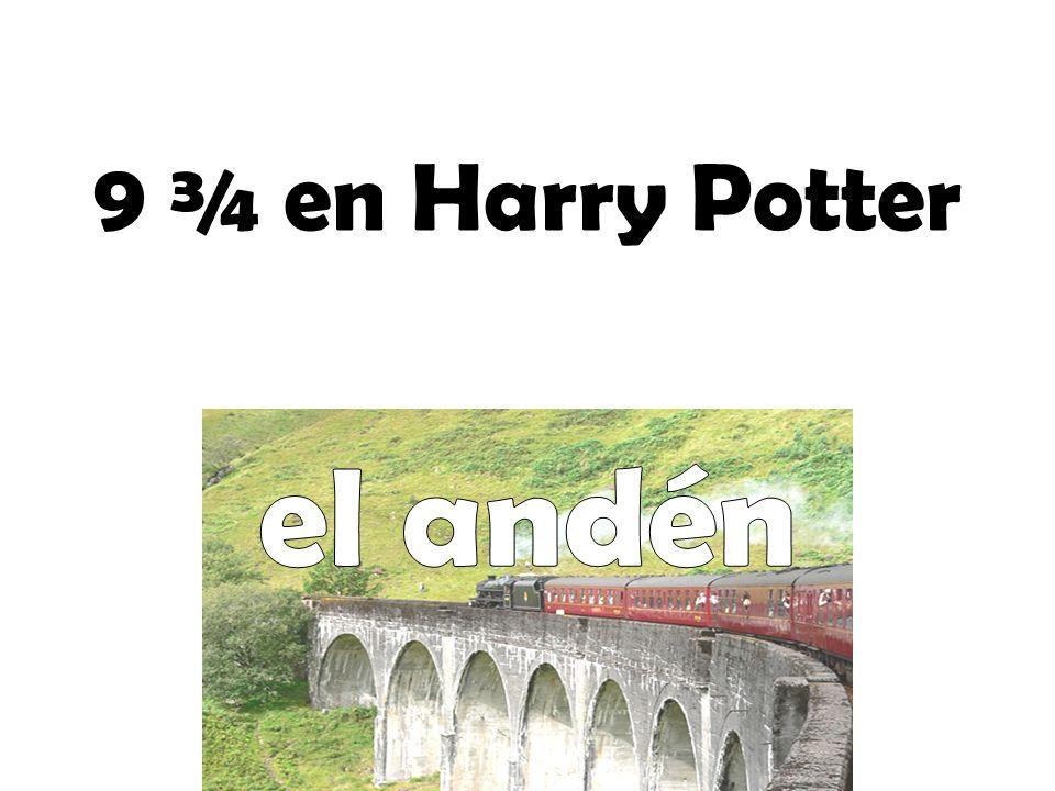 9 ¾ en Harry Potter